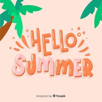 Lettering hello summer