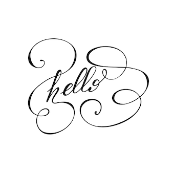 Lettering Hello.