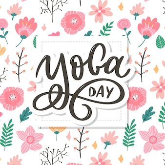 Lettering  international yoga day.