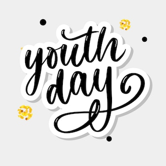 Lettering of international youth day