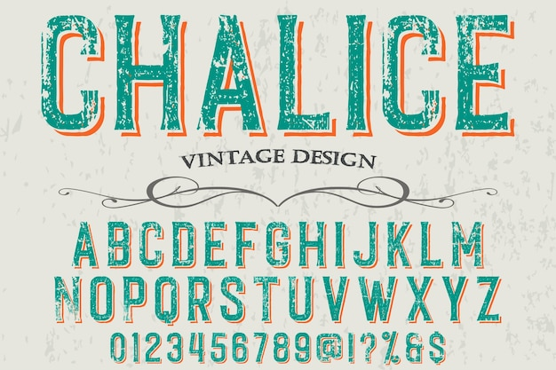 Lettering label design chalice