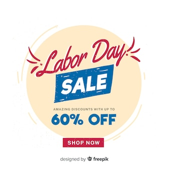 Lettering labor day sale banner