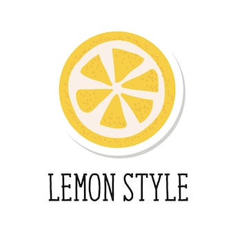 Lettering lemon style with lemon