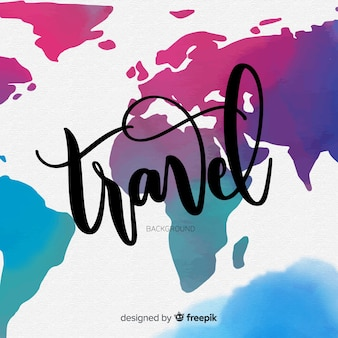 Lettering map background