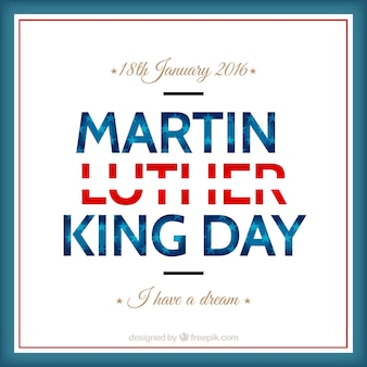 Lettering martin luther king day
