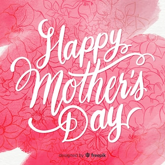 Lettering mother's day background