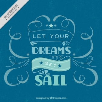 Lettering nautical background in blue tones