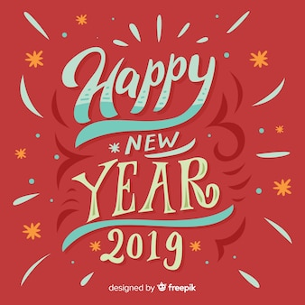 Lettering new year 2019 background