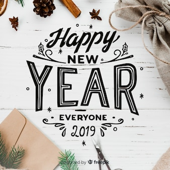 Lettering new year 2019
