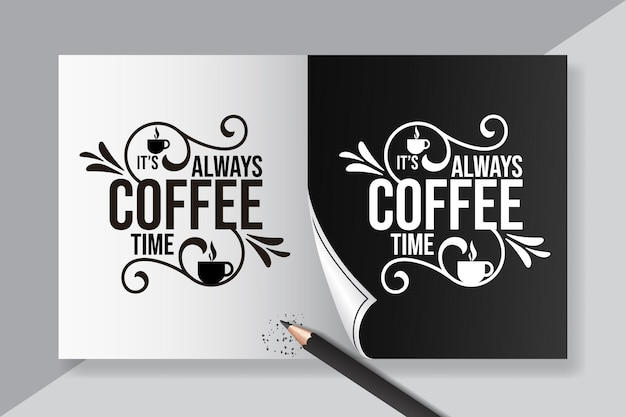 Надпись кофейных цитат для дизайна плаката и футболки