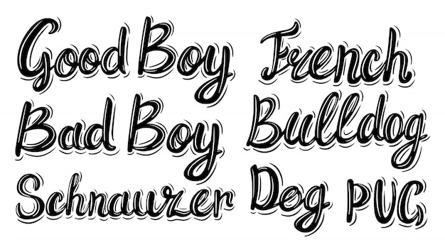 Lettering phrase in vintage style on white