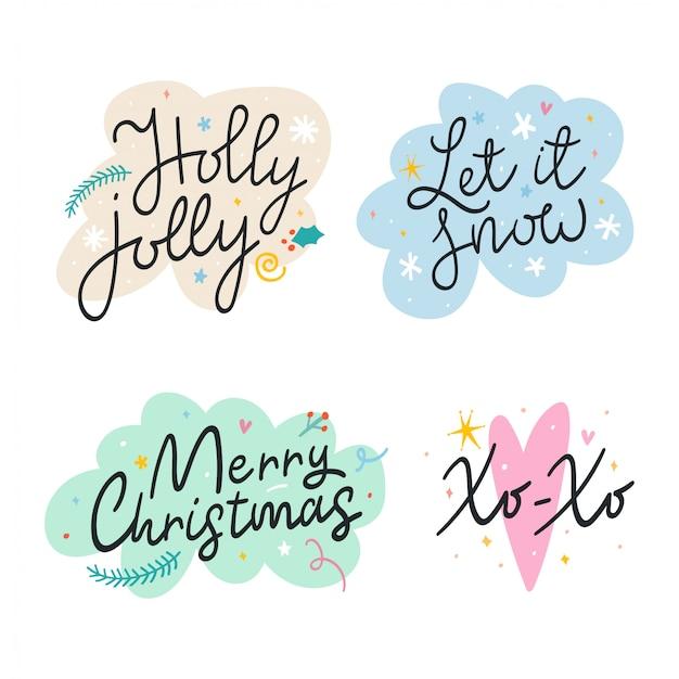 Надпись фразы на рождество
