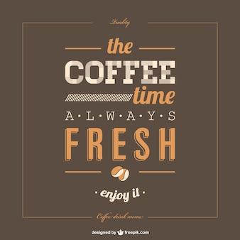 Lettering manifesto template caffè