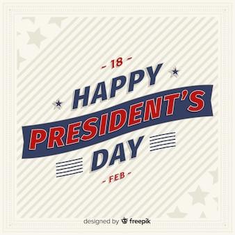 大統領の日をレタリング