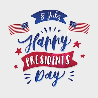 Lettering presidents day