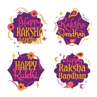 Lettering raksha bandhan badges