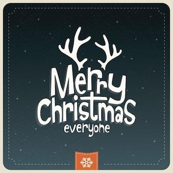 레터링, 순록, 크리스마스
