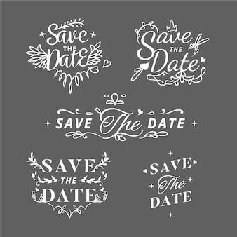 Lettering save the date collection
