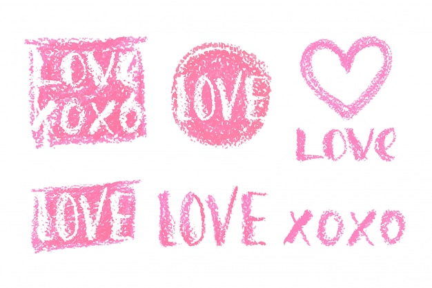 Lettering set for valentines day.