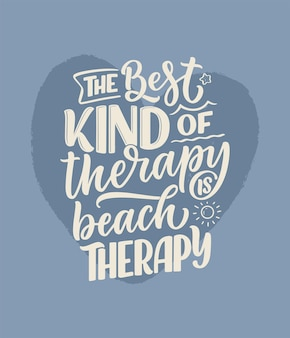 Lettering slogan about therapy. mental healthcare. funny quote for blog, poster and print design. modern calligraphy text. vector illustration