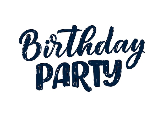 Lettering slogan for happy birthday. hand drawn phrase for gift card, poster