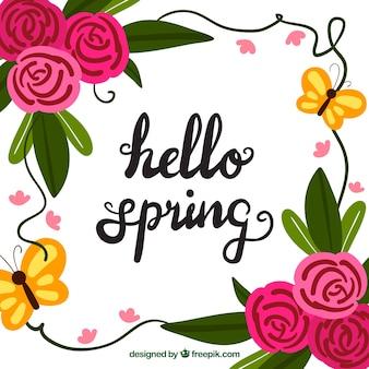 Lettering primavera sfondo