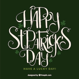 Lettering st. patrick's day background