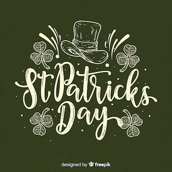 Lettering st. patrick's day