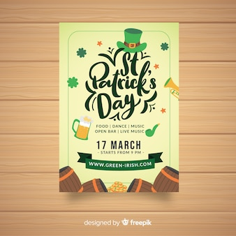 Lettering st patrick's party poster
