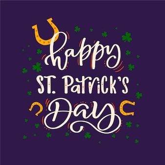 Lettering of st. patricks day celebration