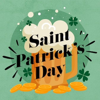 Lettering st patricks day concept
