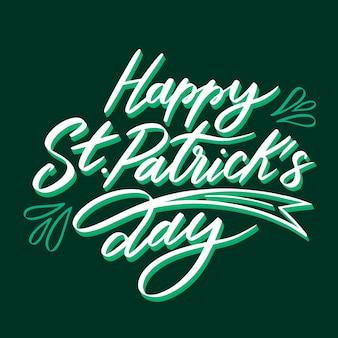 Lettering of st. patricks day event celebration concept