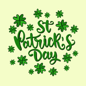 Lettering of st. patricks day event theme
