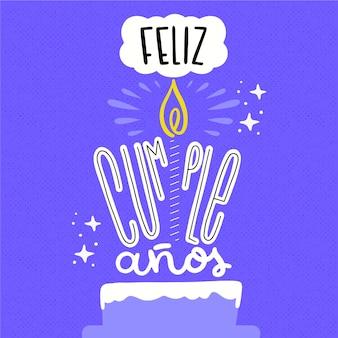 Stile di lettere buon compleanno