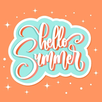 Lettering style hello summer