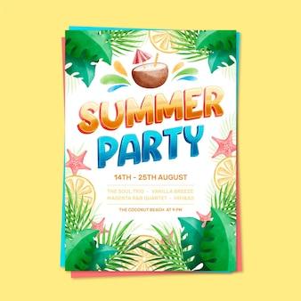 여름 파티 포스터 레터링