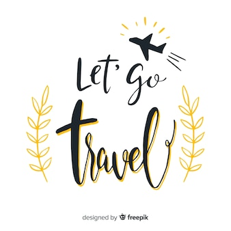 Lettering travel background