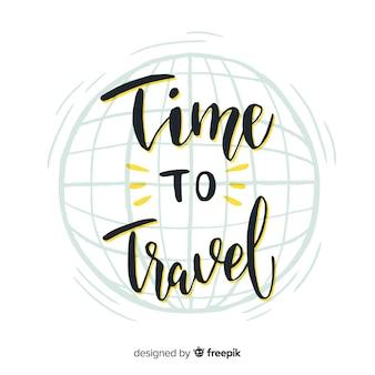 Lettering travel background
