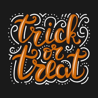 Lettering trick or treat.