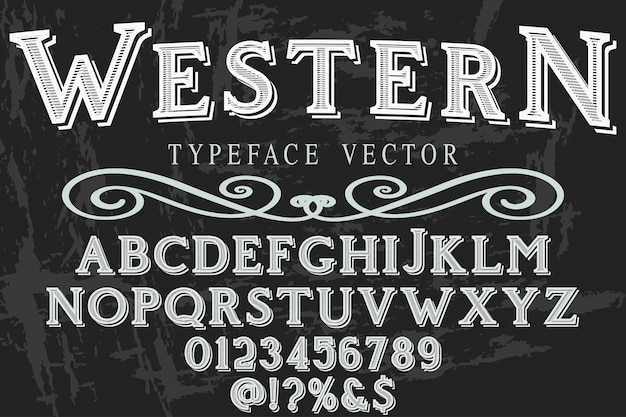 Lettering typeface western