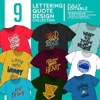 Lettering typography collection