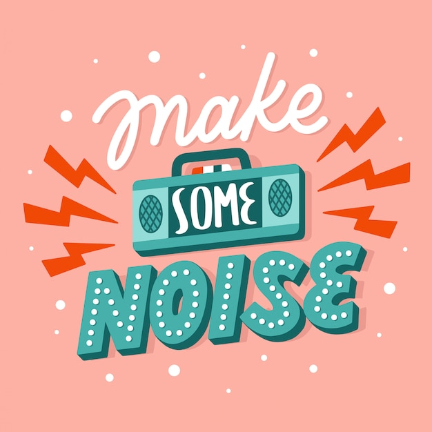 Free Make Some Noise Vectors, 20+ Images in AI, EPS format