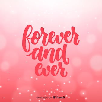 Lettering valentine background