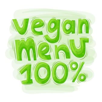 Lettering vegetarian menu.