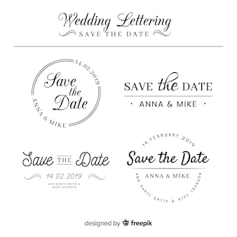 Lettering wedding collection