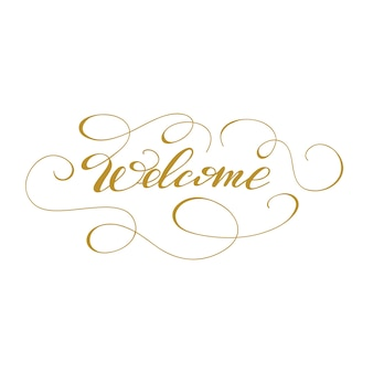 Lettering Welcome. Vector illustration.