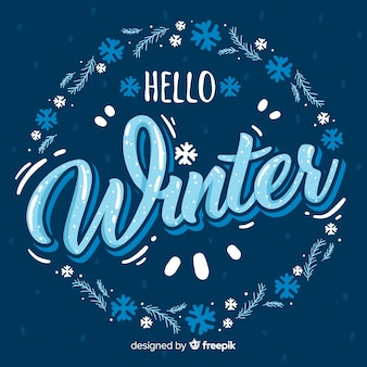 Lettering winter background