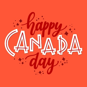 Lettering with happy canada day