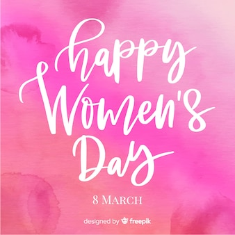 Lettering women's day background