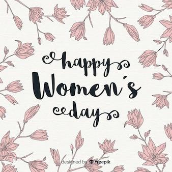 女性の日をレタリング